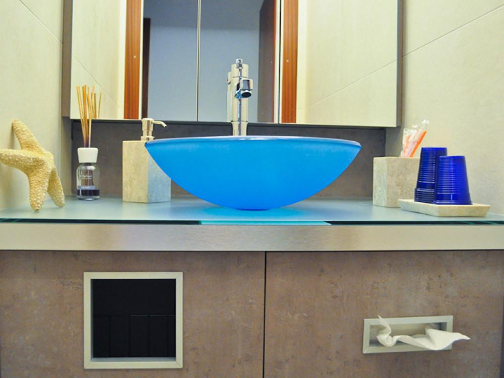 Waschbecken blau